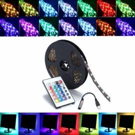 3M DC 5V RGB LED Strip Light Waterproof w/ 24 Key Controller