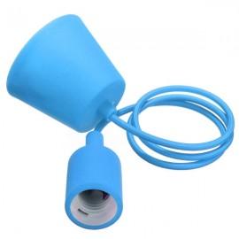 Colorful E27 Silicone Rubber Pendant Light Lamp Holder Socket for Bar Room Restaurant Blue