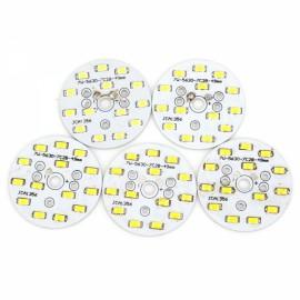 5pcs QP-7W 700LM 6000K 14-5730SMD LED White Light Bulb Down Lamp Source Module White