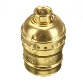 Holder E27 Edison Socket Retro Pendant Lamp without Wire Golden