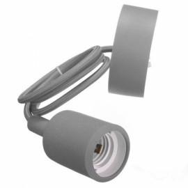 E27 Silicone Rubber Ceiling Pendant Light Lamp Holder Socket DIY Gray