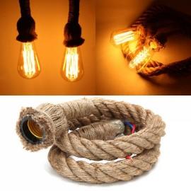 1M Vintage Retro Rope Pendant Light Loft Creative Industrial Lamp for Living Room (AC 90-260V)