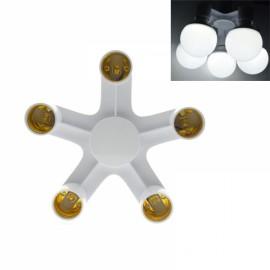 5 in 1 E27 to E27 Base Socket Splitter LED Light Lamp Bulb Adapter Holder
