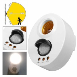 E27 Infrared Motion PIR Sensor Adjustable Delay Induction Lamp Holder Switch