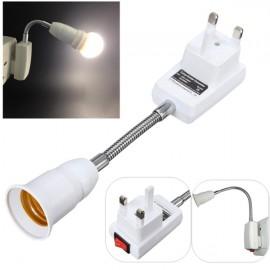 E27 Light Lamp Bulb Holder Flexible Extension Converter Switch Adapter Socket UK Plug