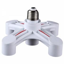 5 in 1 E27 Base Socket Splitter LED Light Lamp Bulb Holder Adapter