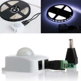 Automatic Infrared PIR Motion Sensor Switch for LED Strip Light - White
