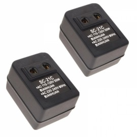 2pcs 110V to 220V Mutual Conversion Voltage Transformer Converter 50W SC-21C Black