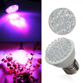 E27 1.9W 38-LED Grow Light Plant Lamp Hydroponic AC 220V