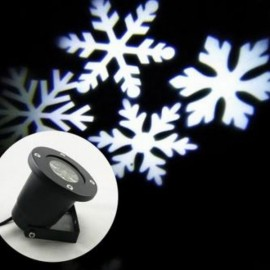 LED Snowflake Landscape Projector Light Outdoor Garden Yard Holiday Xmas Lamp UK Plug Black