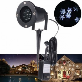 LED Snowflake Landscape Projector Light Outdoor Garden Yard Holiday Xmas Lamp US Plug Black