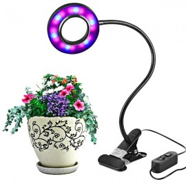 10W LED USB Indoor Clip-on Dimmable Plant Grow Light Desk Lamp DC5V