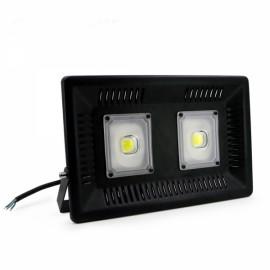 100W IP65 Waterproof Anti-thunder Temperature Control Ultrathin LED Flood Light Warm White (AC170-300V)