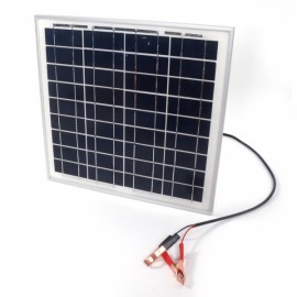 15W 12V Semi Flexible Solar Panel Battery Charger with Clip
