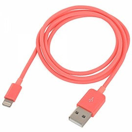 1M MFi Power4 Colored 8-Pin to USB 2.0 Charge Sync Data Cable for iPhone/iPad/iPod Red