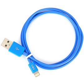1M MFi D&S DSM8114 USB Male to 8-Pin Lightning Data Cable for iPhone/iPad/iPod Blue
