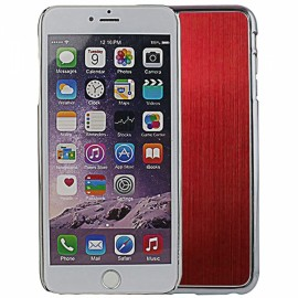 """Wire Drawing Titanium Alloy Back Protective Case for 5.5"""" iPhone 6 Plus/6S Plus Red"""