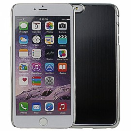 """Wire Drawing Titanium Alloy Back Protective Case for 5.5"""" iPhone 6 Plus/6S Plus Black"""