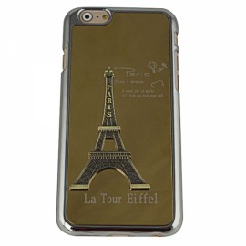"""Stylish Eiffel Tower Pattern Plastic + Aluminum Alloy Protective Case for 4.7"""" iPhone 6/6S Golden"""