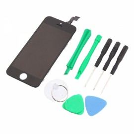 LCD Touch Screen Bezel Frame Assembly for iPhone 5C Standard with Free Tools Black