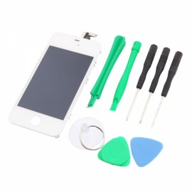 Best Buys LCD Touch Screen Bezel Frame Assembly for iPhone 4S with Free Tools White