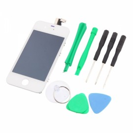 Cost-effective LCD Touch Screen Digitizer Replacement Assembly for iPhone 4 GSM with Tools Sets White