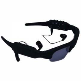 AUGTOOL211 DV88 4GB Bluetooth Sunglass Hidden Camera Black