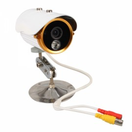 "1/3"" CCD 420TVL LED IR Array Night Vision Camera White Golden"