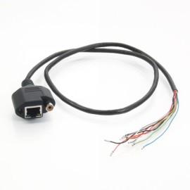 RJ45 Female + DC + RCA 0.8m CCTV Video Surveillance Cable Black
