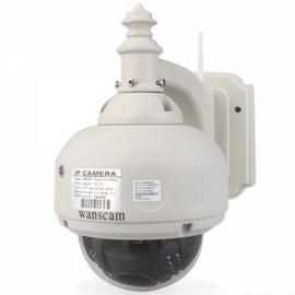 Wanscam CMOS 4-9mm IR-CUT Wireless PTZ IP Network Camera Creamy White COD8