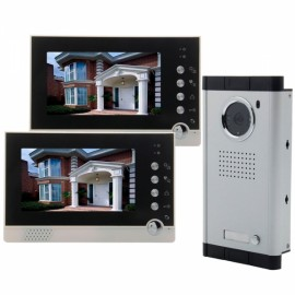"ACTOP VDP-316+CAM-211 7"" Wired Video Door Phone Intercom Security System with 2 Monitors"
