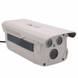 HD 720P 2-IR LED Array Square Shape IP Camera + Remote Access White
