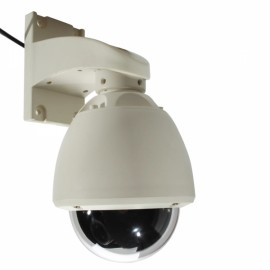 "1/3"" CCD 600TVL 8mm Lens 5"" PTZ Dome Security Camera White (PAL)"