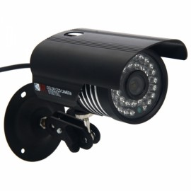 3.6mm 600TVL 36SMD LED Red Light IR Night Vision Waterproof Camera Black
