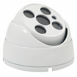 Metal Four-LED Array Security Camera Housing Milky White