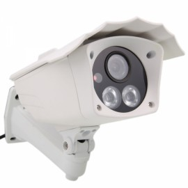 HD 720P 2-IR LED Array Shell Type Network IP Camera + Remote Access White