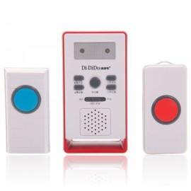 Intelligent Wireless Remote Control Doorbell with Panic Alarm White 3055
