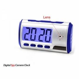 Digital Alarm Clock with Pinhole Camera + Motion Sensor Blue