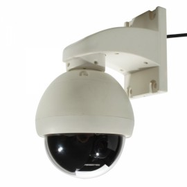 "1/3"" CCD 420TVL 5-15mm Zoom Lens 3.5"" Mini PTZ Dome Security Camera White (PAL)"