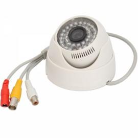 """1/3"""" CMOS 380TVL 36-IR LED Conch-shaped Audio Security Camera White (PAL)"""