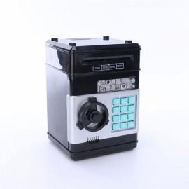 Mini ATM Electronic Password Piggy Bank Childrens Safe Box Black
