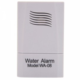 Square Shape Plastic Water Leakage Security Alarm White