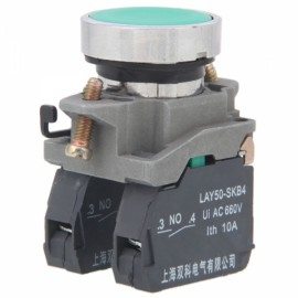LAY50-SKB4 Double Plug-in Type 4-Screw UI AC 660V Button Switch Green