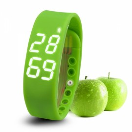 W2 USB Multifuntional Smart Wristband with Timer/Temperature/3D Pedometer/Sleep Monitor/Calorie Functions Green