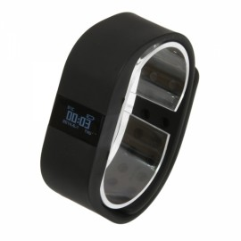 DiGiCare ERI LED Real Time Display Update Waterproof Bluetooth Wrist Watch Wireless Smart Bracelet Black