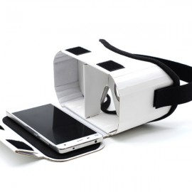 """Universal Cardboard Virtual Reality VR Experience Headset 3D Glasses for 4.7-5.5"""" Smartphone White"""