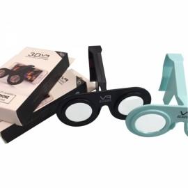 VR PLUS Virtual Reality Folding 3D Glasses Plastic Cardboard Portable VR Glasses for Smartphone Black
