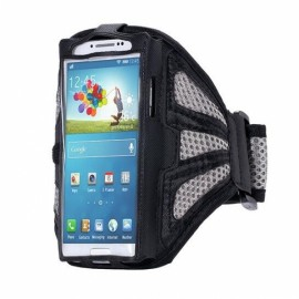 Running Gym Sport Mesh Armband Case for Samsung Galaxy S7 Edge Gray