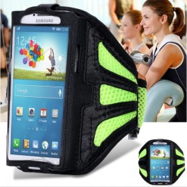 Running Gym Sport Mesh Armband Case for Samsung Galaxy S7 Edge Green