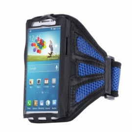 Running Gym Sport Mesh Armband Case for Samsung Galaxy S7 Edge Dark Blue